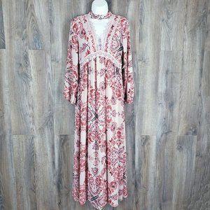 NEW Altar'd State Paisley Maxi Dress Size S Choker